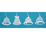 Háčkované vianočné ozdoby (4 zvončeky) Veľkosť ozdoby je cca 7 cm
