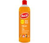 Real Maxi upratovanie Podlahy univerzálny antistatický čistiaci prostriedok s mydlom na drevo, lamino, umývateľné plochy 1 l