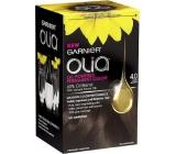 Garnier Olia barva na vlasy bez amoniaku 4.0 Tmavě hnědá