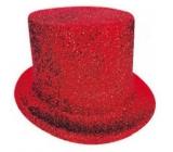 Cylinder karnevalový 25 cm červený