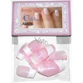 Absolute Cosmetics Nails umelé nechty francúzska manikúra 21000 ružové 20 kusov