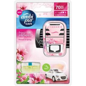 Ambi Pur Car Flowers and Spring kompletný strojček 7 ml