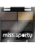 Miss Sporty Studio Colour Quattro očné tiene 414 100% Smokey 3,2 g