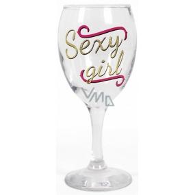 Albi Můj Bar Sklenka na víno glitter Sexy girl 220 ml