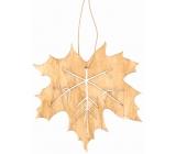 List dřevěný světle hnědý na zavěšení 10 cm