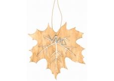 List drevený svetlo hnedý na zavesenie 10 cm