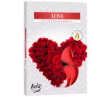 BISPOL Aura Love - Láska vonné čajové sviečky 6 kusov
