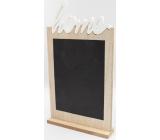 Nekupto Home Decor Drevená kriedová tabuľa, doska 17 x 31 x 4 cm