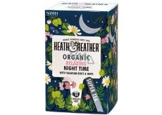 Heat & Heather Bio Pre dobrý spánok Harmanček, mäta, valeriána lekárska, chmeľ čaj 20 vrecúšok x 1 g