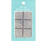 Nail Accessory Hollow Sticker šablónky na nechty multifarebné dve vlnky 1 aršík 129