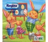 Regina Veľkonočné papierové obrúsky Zajačikovia 1 vrstvové 33 x 33 cm 20 kusov