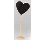 Nekupto Home Decor Ceduľka na kriedu srdce 19 cm