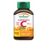 Jamieson Vitamín C Pomaranč tablety na cmúľanie, 500 mg doplnok stravy s prírodným sladidlom 120 tabliet