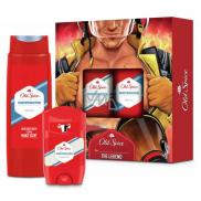 Old Spice White Water antiperspirant dezodorant stick 50 ml + 2v1 sprchový gél na telo a vlasy 250 ml, kozmetická sada pre mužov