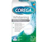 Corega Tabs Whitening čistiace tablety na zubné náhrady protézy 30 kusov