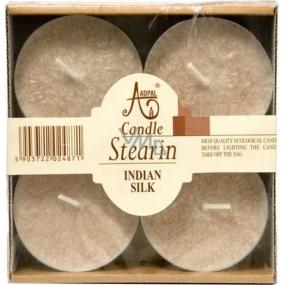 Adpal Stearín Maxi Indian Silk - Indické hodváb vonné čajové sviečky 4 kusy