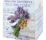 English Soap Anglická Levandule Sojová vonná svíčka 170 ml, hoří až 35 hodin