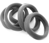 Vlasová gumička šedá 3 x 0,8 cm 4 kusy
