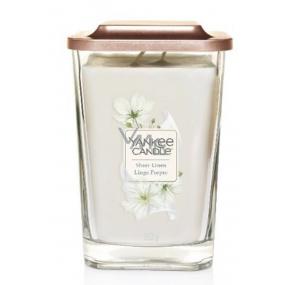 Yankee Candle Sheer Linen - Čisté bielizeň sójová vonná sviečka Elevation veľká sklo 2 knôty 552 g