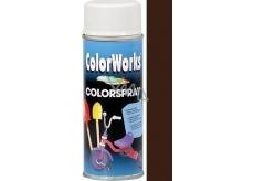 Color Works Colorsprej 918514 čokoládově hnědý alkydový lak 400 ml