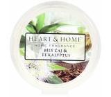 Heart & Home Biely čaj a eukalyptus Sójový prírodné vonný vosk 27 g