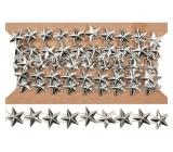 Reťaz strieborný s hviezdami 1,5 m