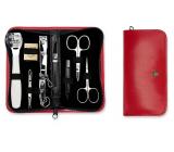 Kellermann 3 Swords luxusné manikúra 9 dielna Articial Leather z vysoko kvalitnej umelej kože Red 5239 FN