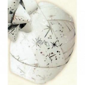 Nekupto Klubíčko Luxus biele so striebornými detailmi 1 cm x 10 m KB 216 02