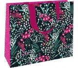 Nekupto Darčeková papierová taška 30 x 23 x 12 cm Drobné kvety 1868 L - LFL