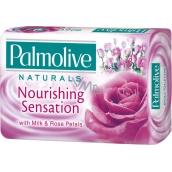 Palmolive Naturals Milk & Rose tuhé toaletní mýdlo 90 g