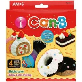 Amos iCanB Bublinková modelovacia hmota jemná 4 tégliky po 25 g