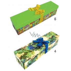 Anjel Darčeková krabička skladacia s mašľou na fľašu celoročné, 34x9,5x9,5 cm