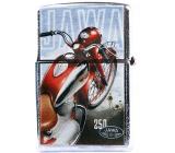 Bohemia Gifts & Cosmetics Retro zapaľovač kovový benzínový s potlačou Motorka Jawa 5,5 x 3,5 x 1,2 cm
