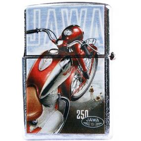 Bohemia Gifts & Cosmetics Retro zapalovač kovový benzínový s potiskem Motorka Jawa 5,5 x 3,5 x 1,2 cm