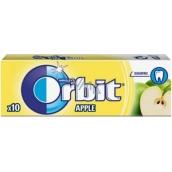 Wrigleys Orbit Jablko žuvačky bez cukru ovocné dražé 10 kusov 14 g