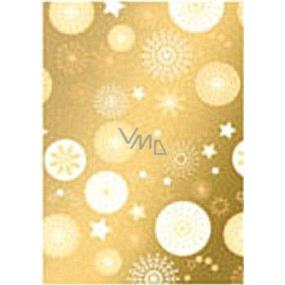 Ditipo Darčekový baliaci papier 70 x 500 cm Vianočné zlatý hviezdičky 2033913