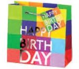 BSB Luxusná darčeková papierová taška 23 x 19 x 9 cm Happy Birthday LDT 290-A5