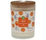 Air Wick Essential Oils Blood Orange & Incense - Pomaranč a vonná tyčinka vonná sviečka sklo 185 g