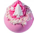 Bomb Cosmetics Ružové vianoce Šumivý balistik do kúpeľa 160 g