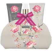 Baylis & Harding Ružová magnólie a Kvety hrušky sprchový krém 50 ml + mlieko na ruky a telo 50 ml + telový sprej 100 ml + kozmetická kabelka, kozmetická sada