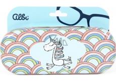 Albi Original Puzdro na okuliare plechové Jednorožec 15,7 x 6,2 x 3,2 cm
