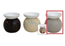 Aromalampy keramická 105x115 svetlo béžová Banka 4065