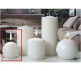 Lima Ice pastel sviečka biela guľa 80 mm 1 kus