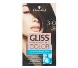 Schwarzkopf Gliss Color farba na vlasy 3-0 Hnedý 2 x 60 ml