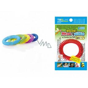 Trixline Mosquito Repelentný vodeodolný náramok - gumička proti komárom s citriodiolem 1 kus, TR 351 náhodný výber farby