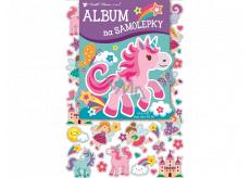 Album na samolepky hologram pre dievčatká 16 x 29 cm + 40 kusov samolepiek