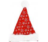 Mikulášska čiapka so striebornými vločkami 38 x 30 cm