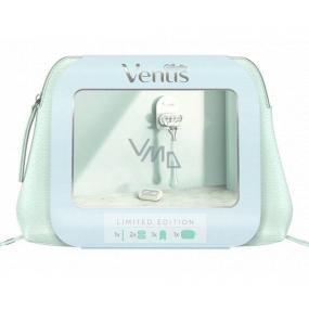 Gillette Venus holiaci strojček pre ženy + náhradné hlavice 2 kusy + držiak do sprchy + etue, kozmetická sada