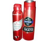 Old Spice Original deodorant sprej 150 ml + Captain 2v1 sprchový gél na telo a vlasy 250 ml, kozmetická sada