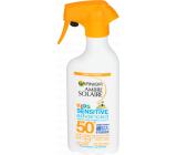 Garnier Ambre Solaire Kids Sensitive SPF50 + opaľovacie mlieko sprej 300 ml
